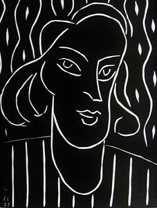 MATISSE-TENNY-XXe-SIECLE-ORIGINAL-LINOCUT-1938-FREE-SHIP-IN-THE-US