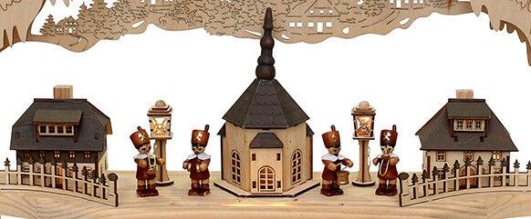 XXL 3D 3D 3D LED Lichterbogen Schwibbogen Seiffen Kirche 6 Bergleute Bergmannsaufzug b1ad9f