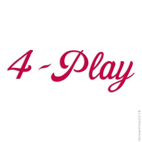 Size #3191 4 Play Foreplay Decal Sticker Choose Color