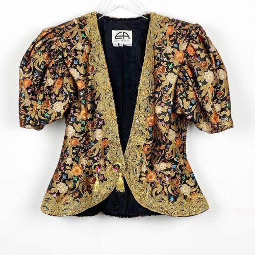 Eugene Alexander Dress Jacket Short Sleeve Jeweled