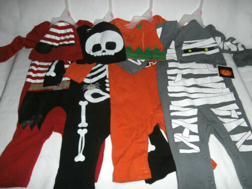 Halloween Baby Costume Infant Outfit You Choose Skeleton Pirate Mummy Pumpkin