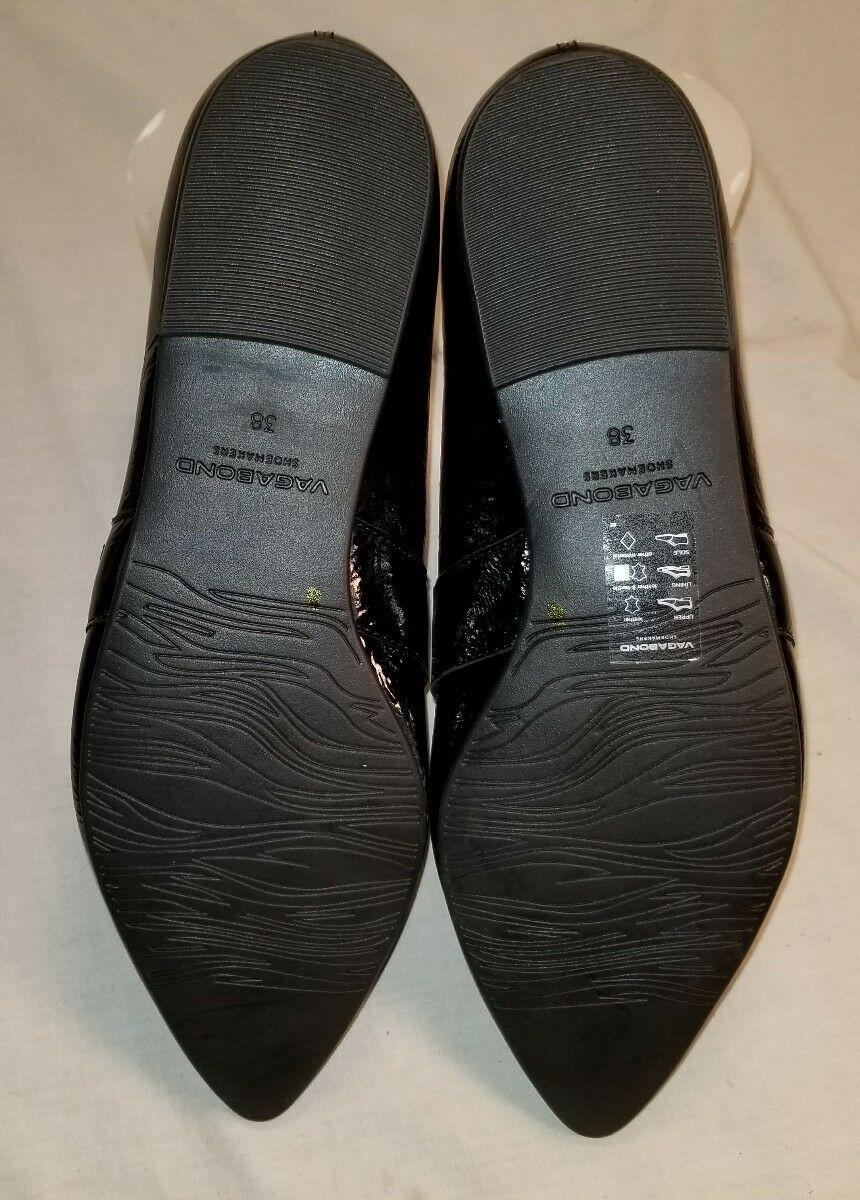 NEW WOMEN'S KATLIN BLACK PATENT LEATHER LEATHER LEATHER LOAFERS US 8 EU 38 51906e