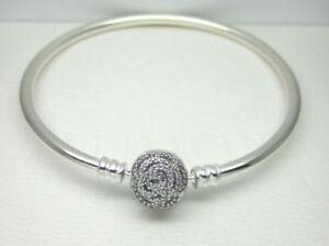 04f974a34 145 Authentic Pandora Disney Beauty & the Beast Silver Bangle 7.5 ...