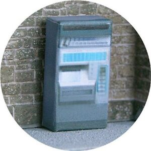 OO-SCALE-GAUGE-GREYSTEEL-TICKET-VENDING-MACHINE-FOR-HORNBY-MODEL-RAILWAY-STATION