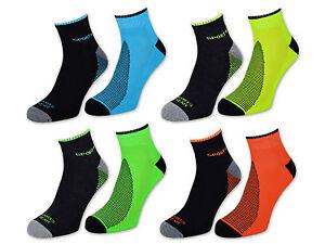 2-bis-12-Paar-NEON-Sport-Sneaker-Socken-Herren-mit-Frotteesohle-verstaerkt