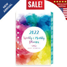 2022 Planner Refills Weekly Amp Monthly Refill January December 7 Hole Punched
