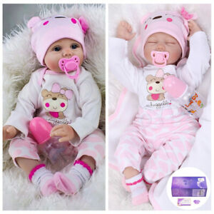 "22"" Reborn Baby Doll Twins Toddler Girl Dolls Lifelike ..."