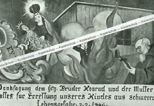 Maria Kappel bei Schmiechen - Votivtafel - Sprengkörper - wohl um 1960 - S 25-2