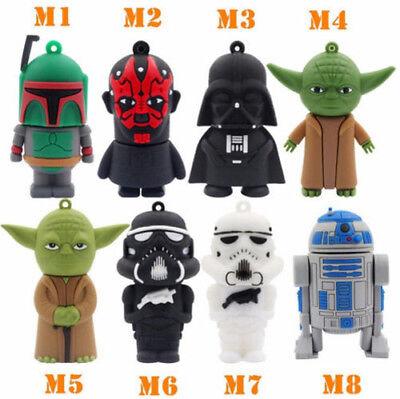 Movie Star Wars USB 2.0 Thumb Memory Stick Gift Flash Drive Real 32GB 64GB 128GB