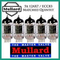 5x Mullard 12ax7 / Ecc83 | Matched Quintet / Five Tubes