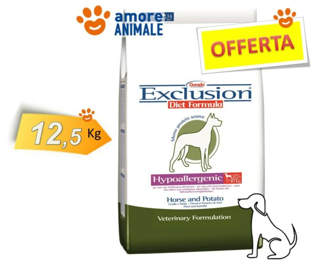 Exclusion Diet Hypoallergenic M/L Breed Horse & Potato 12,5 kg Cavallo e Patate
