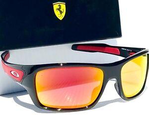a059433958 Image is loading NEW-Oakley-TURBINE-Ferrari-Black-w-RUBY-Iridium-