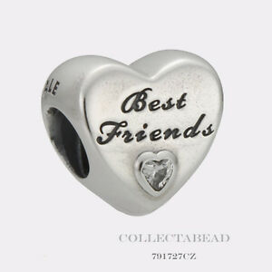 4d6aa48e8 Image is loading Authentic-Pandora-Sterling-Silver-Friendship-Heart -Clear-CZ-