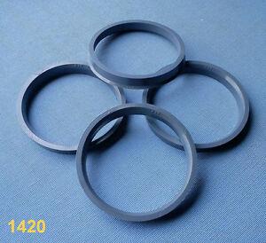 (1420) 4x Zentrierringe 74,1 / 66,6 mm grau für Alufelgen
