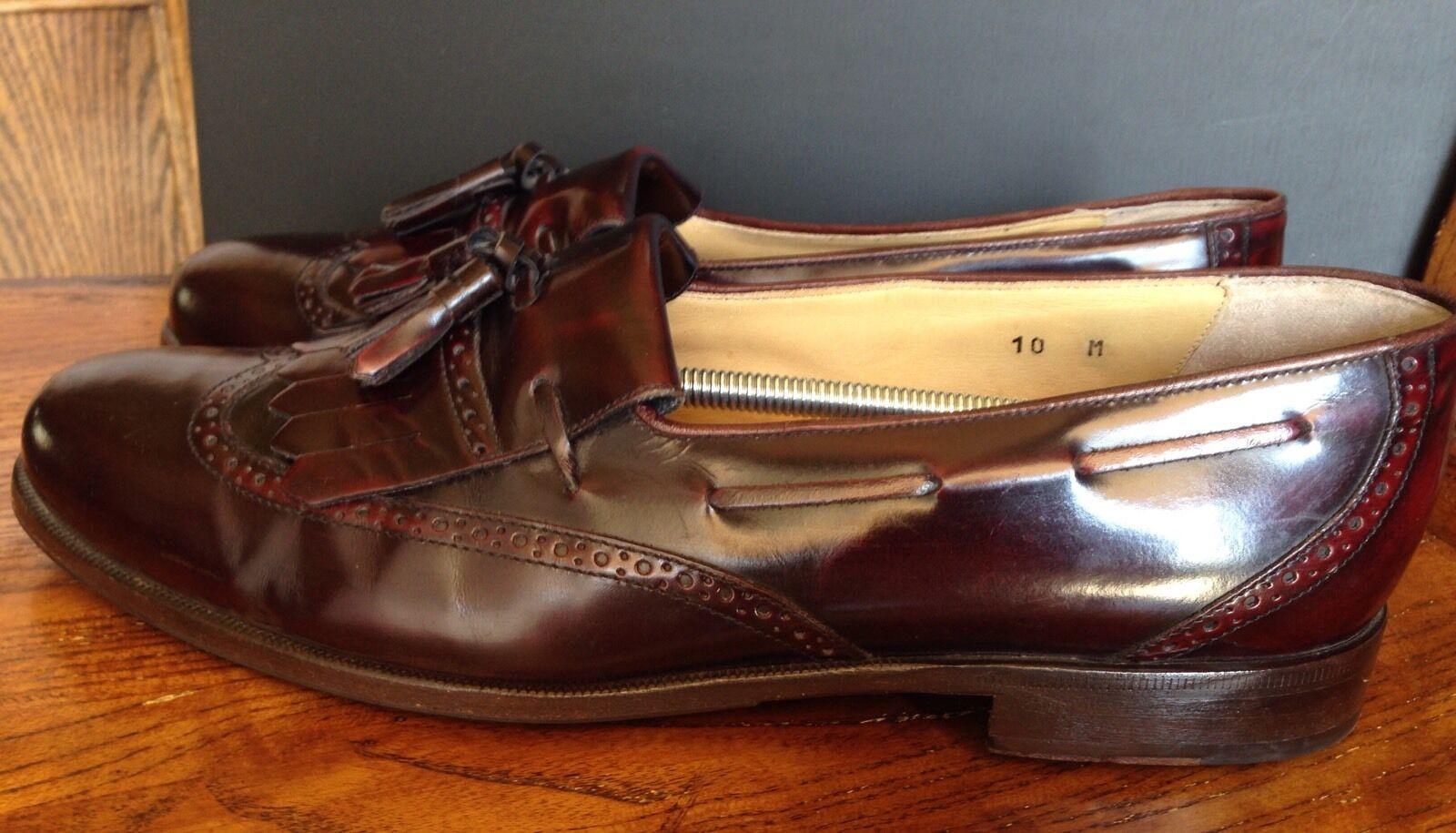Nordstrom Uomo Tassel Dress Shoes Loafer Wing Tips Tassel Uomo Burgundy Made in Italy 10M 6e60ae