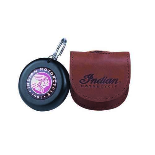 Indian Motorcycle Leather Key Fob Carrier with Embossed Logo Brown
