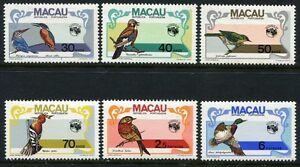 Macau-Macao-1984-Voegel-Birds-Uccelli-Oiseaux-522-27-Postfrisch-MNH