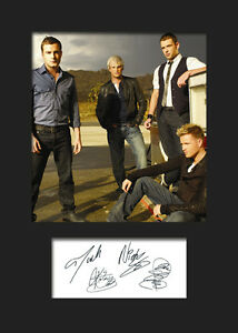 FREE DELIVERY TAKE THAT #4 Signed Photo Print A5 Mounted Photo Print