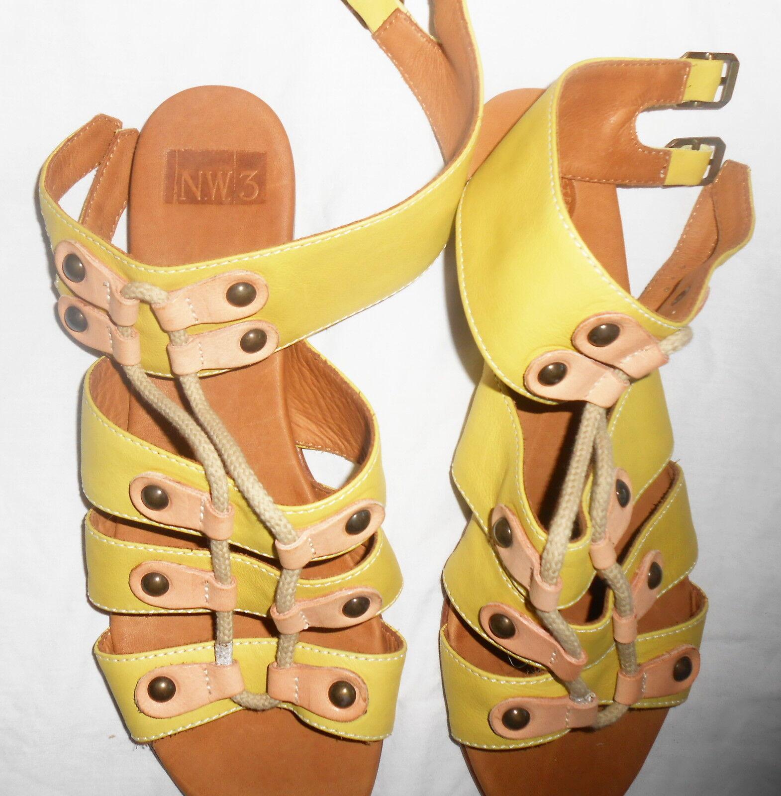 NW3 Hobbs Hampstead Rope Sandal green flat shoes Size box 39 6 brand new box Size BNIB 248377