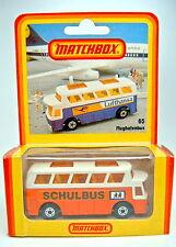 """Matchbox SF Nr.65C Airport Coach orange & weiß """"Schulbus"""" dt. Sondermodell"""