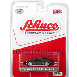 SCHUCO-9000-EUROPEAN-CLASSICS-PORSCHE-911-991-TURBO-S-1-64-METALLIC-GREY