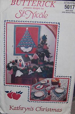 100% Waar Butterick 5017 Kathryn's Christmas Decorations Pattern