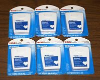 Lot Of 6 Cvs Pharmacy Dental Floss Waxed 100 Yards Each Brand - Free Ship