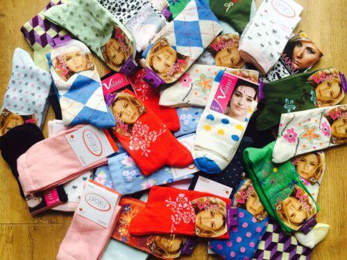 20 pairs luxury ladies women/'s coloured design socks cotton blend size 4-7  HHBG