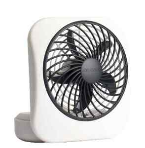 """O 2 Cool 5/"""" A BATTERIA PORTATILE Ventilatore da tavolo piccola grigia potente due velocità a casa"""