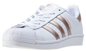 Adidas Superstar Womens Gold And White