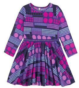 Deux par Deux Girls Brushed Jersey Dress Circle of Friends Sizes 5-12