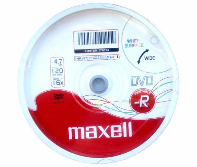 DVD-R 4.7GB Maxell 16x Inkjet white 50er Cakebox