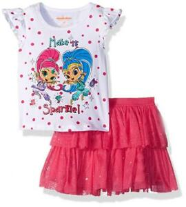 Shimmer-and-Shine-Toddler-Girls-S-S-Top-2pc-Skort-Set-Size-2T-3T-4T