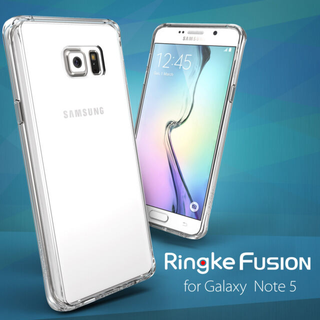 new products 5c460 8659e Ringke Fusion Slim Hard Dust Cap Clear View Cover For Samsung Galaxy Note 5  Case