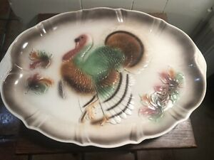 VTG-1958-Lane-amp-Co-California-USA-Thanksgiving-Turkey-Platter-T-12-15-034-x-20-034