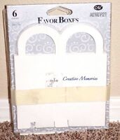 Creative Memories White Favor Boxes, 12 Total, 3 X 2 1/4 X 3, Accessories