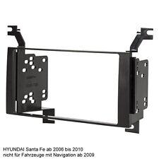 Hyundai Santa Fe ab 2006 bis 2010 Radioblende Blende Rahmen Einbau 2 DIN Doppel