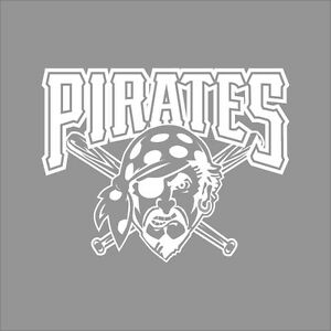 Pittsburgh pirates mlb team logo 1 color vinyl decal for Pittsburgh pirates coloring pages