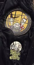 Disney Haunted Mansion Holiday Nightmare Lock Shock & Barrel Ornament & Pin Set