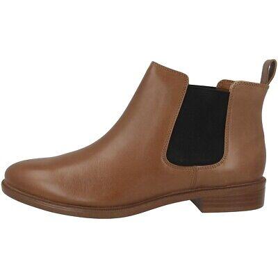 Clarks Taylor Shine Schuhe Damen Leder Chelsea Boots Stiefeletten Tan 26118631 Eine GroßE Auswahl An Waren