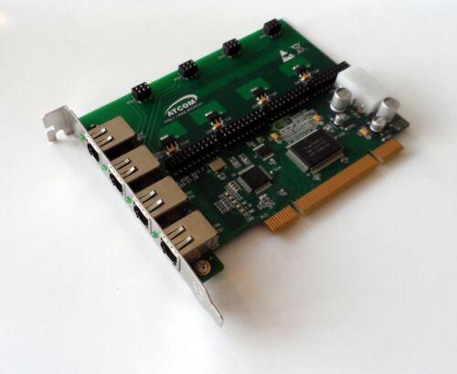Atcom AX400P-00 4 Port Analog PCI Asterisk Card with 0 FXS 0 FXO