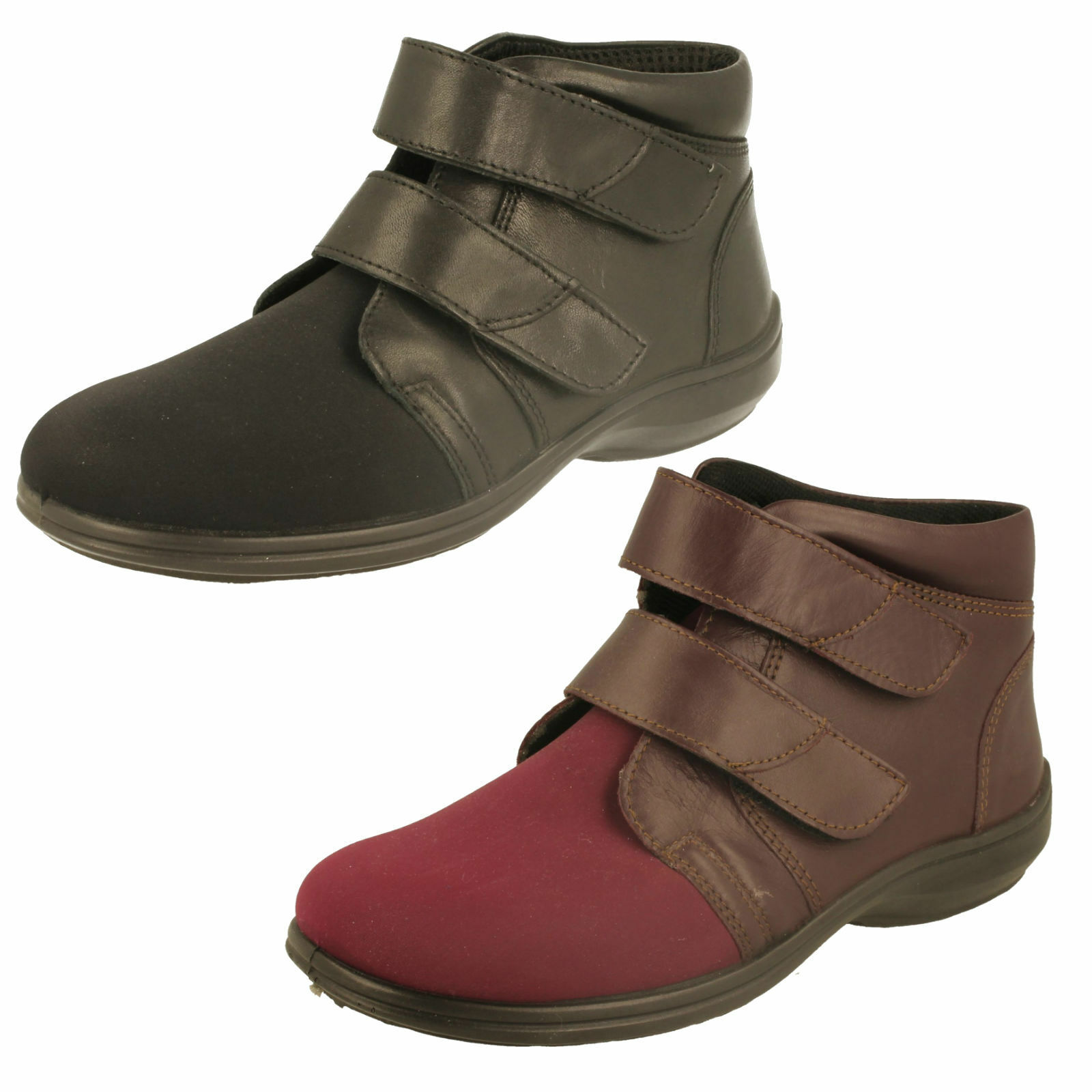 Ladies Easy B Extra Wide Boots - Amy