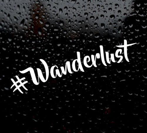 #Wanderlust  DECAL LOGO CAR VAN LAPTOP VINYL STICKER wanderlust instagram travel