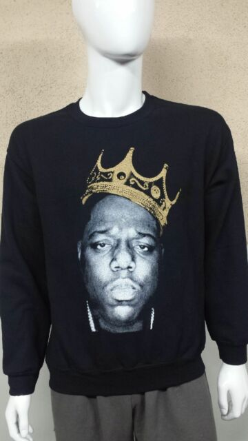 Big Poppa Crewneck Biggie Smalls Sweatshirt CREW NECK Bad Boy B.I.G BAD BOY 2pac