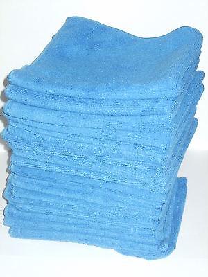 20 x Car Detailing Luxury Microfibre Cloths 40cm x 40cm  Colour Blue *FREE POST*