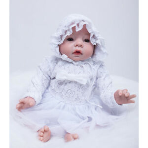 """Cute Lace Dress Hat Suit Clothes for 20/""""-22/"""" Baby Girl Doll Outfit Pink NEW"""