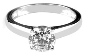7acf70f812e57 Details about 925 Sterling Silver Round Shape 2.00 Carat Solitaire  Beautiful Engagement Ring