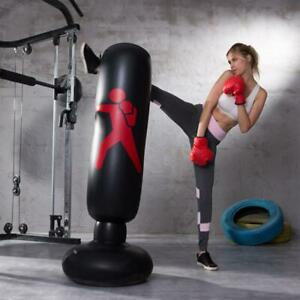 Boxing Punching Bag Inflatable Free-Stand Tumbler Muay Thai Training Pressure Re