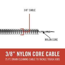 Ridgid C32 Replacement Cable K 3800 K 400 Drum Machine Drain Opener 75 Ft