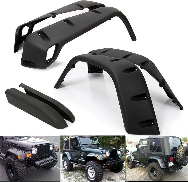 Wide Pocket Extended Fender Flare Kit for 1997-2006 Jeep Wrangler TJ